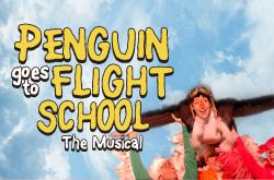 Penguin Goes to Flight School